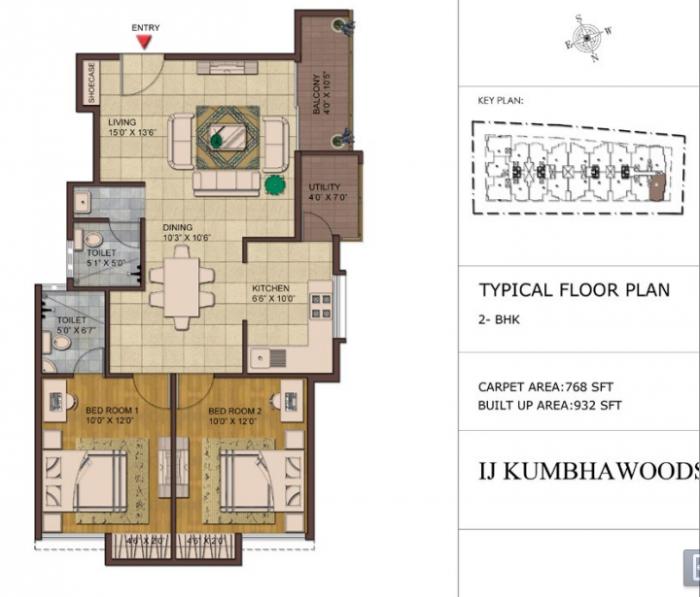 URS IJ Kumbha Woods, Bangalore - Floor Plan