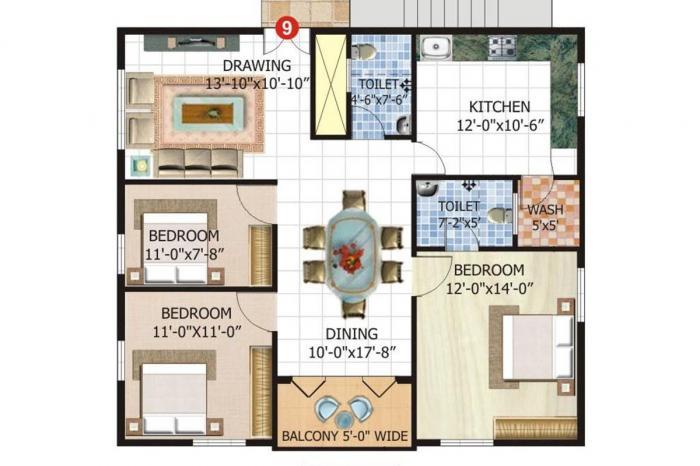 Satwis Vielle, Bangalore - Floor Plan