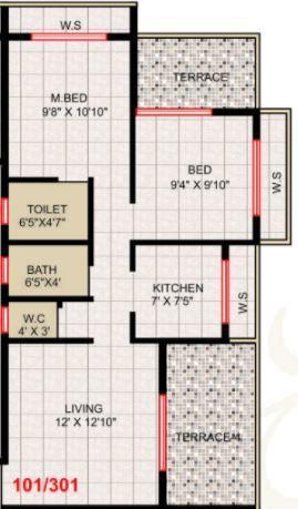 Rewillax Tanishq, NaviMumbai - Floor Plan