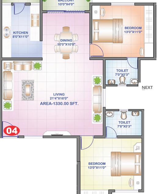 VM Grandeur, Bangalore - Floor Plan