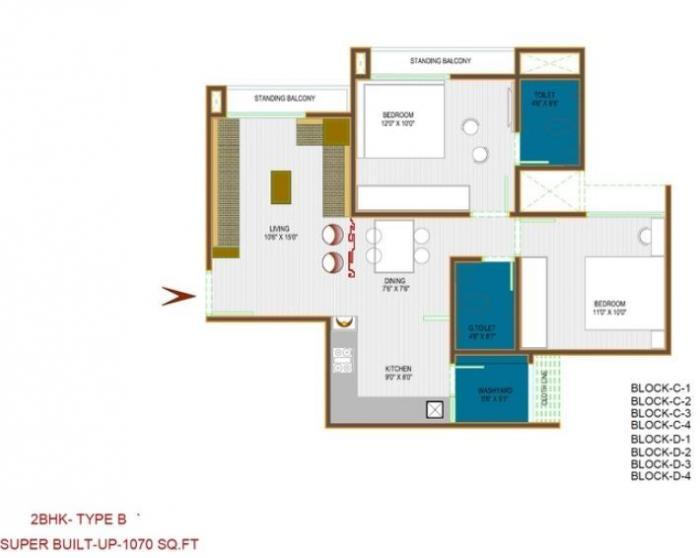 Gala Marigold, Ahmedabad - Floor Plan