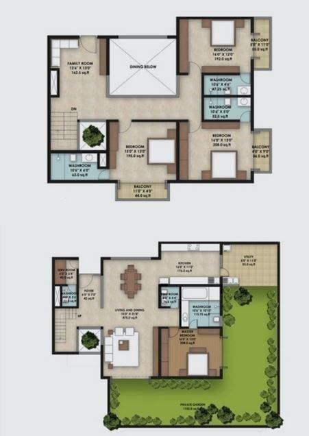 Gokaldas Euphoria, Bangalore - Floor Plan