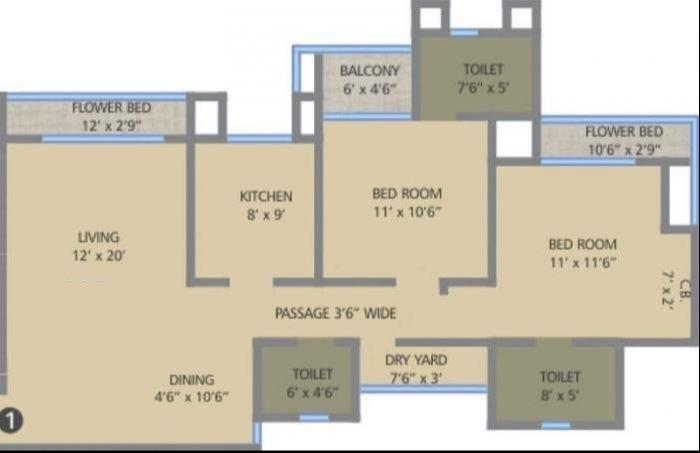 Auralis The Twins, Thane - Floor Plan