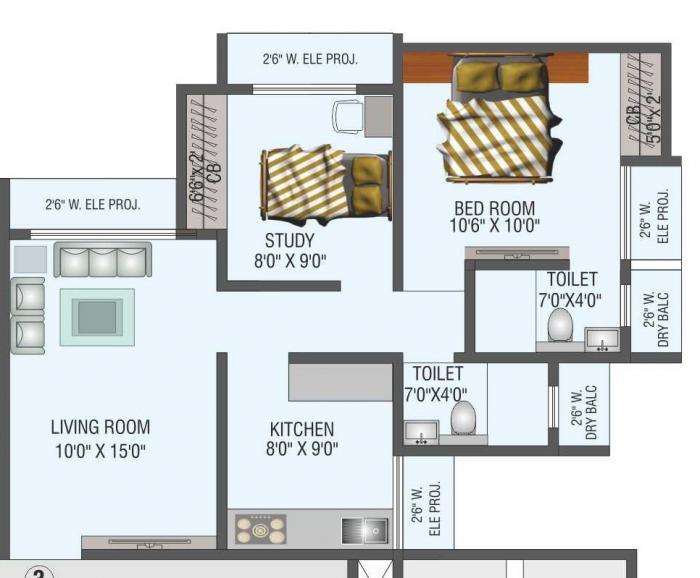 Saptashree Heights, Thane - Floor Plan