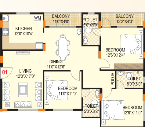 Scion Windflower, Bangalore - Floor Plan