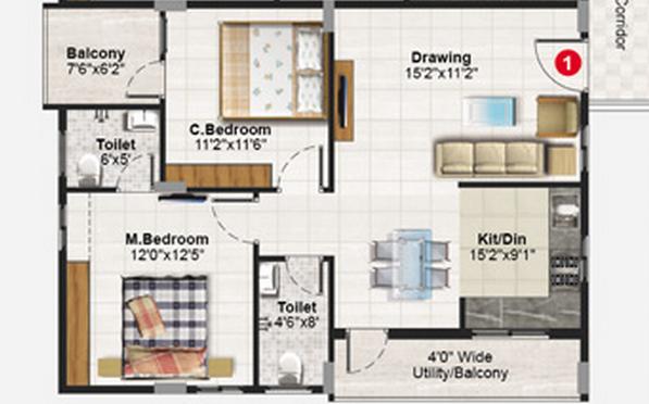 Pegasus Soorya Sapphire, Bangalore - Floor Plan