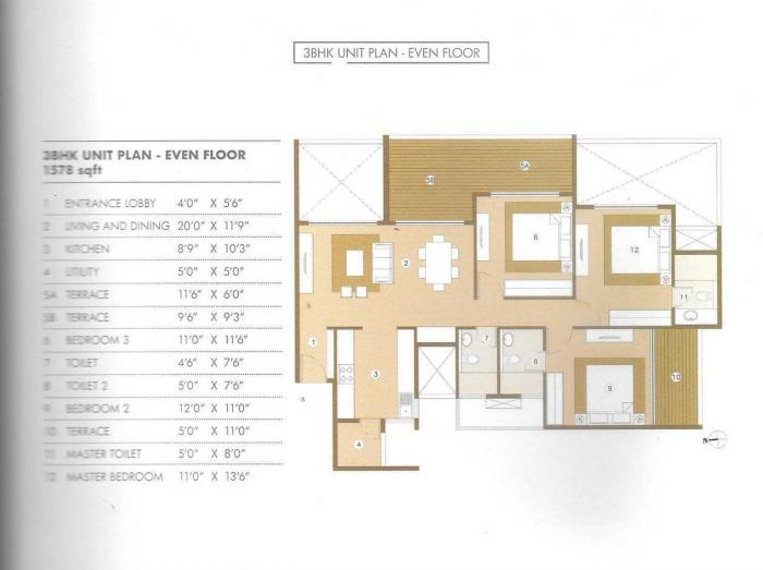 Palm World One, Pune - Floor Plan