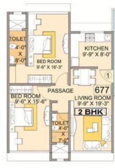 Dhanesh SukhVilla, Mumbai - Floor Plan