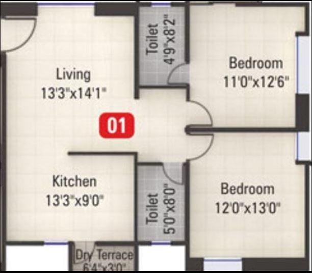 Kumar Millennium, Pune - Floor Plan