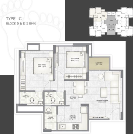 Shripad Residency, Ahmedabad - Floor Plan