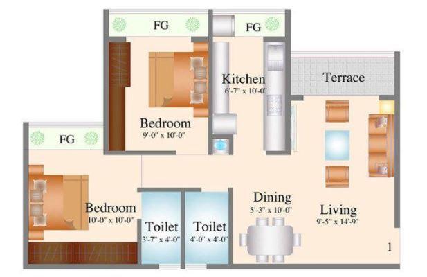 Navkar City Phase II, Mumbai - Floor Plan