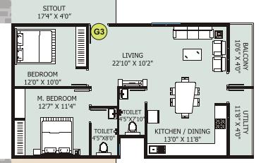Shrishti Anmol, Bangalore - Floor Plan