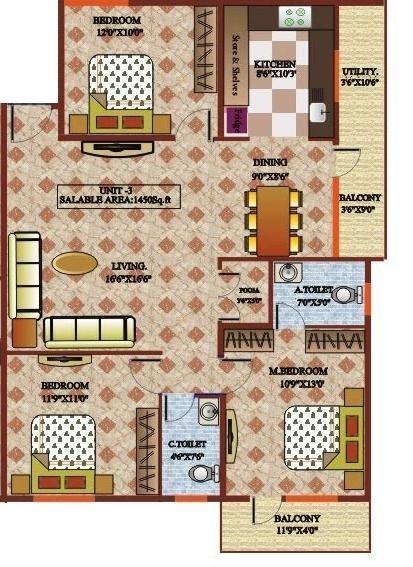 Nishitas Sai Sathveek Residency, Bangalore - Floor Plan