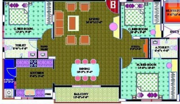 Rajeshwari Pearl, Bangalore - Floor Plan