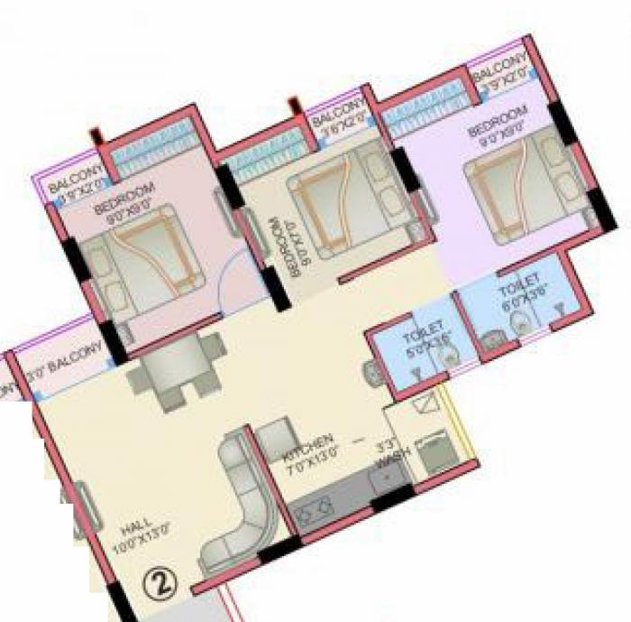 Royal Lake City, Valsad - Floor Plan