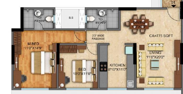 Sri 10 Square, Mumbai - Floor Plan