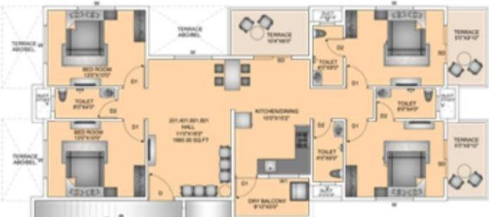 Supertech Defence Colony Phase II, Pune - Floor Plan