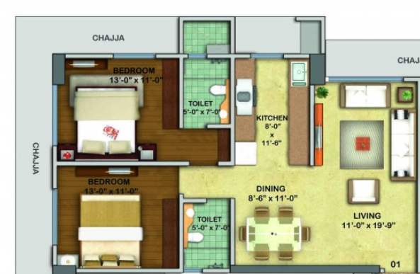 Karmvir Avant Western Woods, Mumbai - Floor Plan