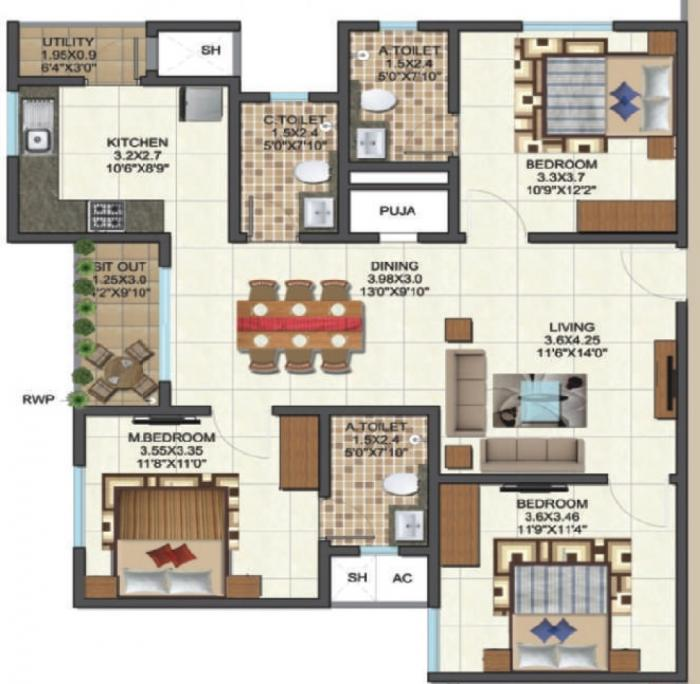 Sai Kalyan Ultima, Bangalore - Floor Plan