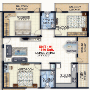 Sri KV Lakefront, Bangalore - Floor Plan