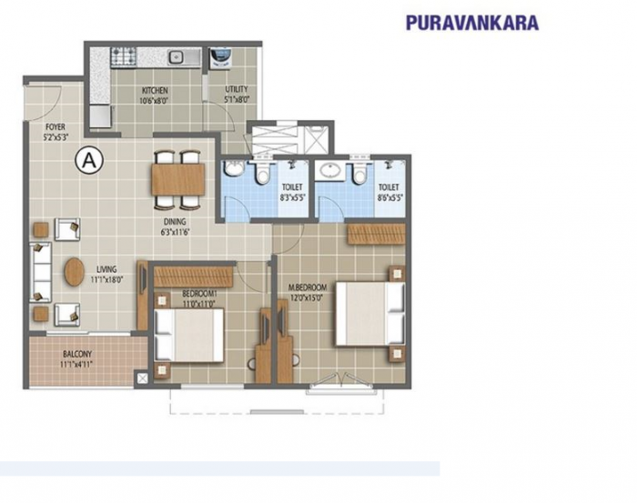 Purva Northern Waves, Bangalore - Floor Plan