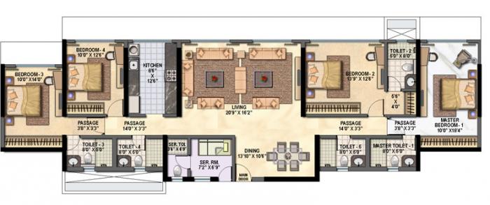 Raheja Reflections Eternity, Mumbai - Floor Plan