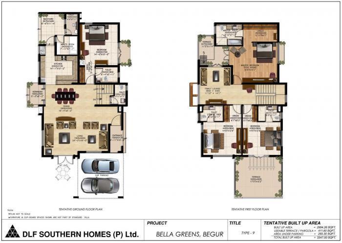 DLF Bella Greens, Bangalore - Floor Plan