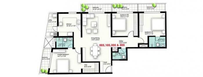 Axis Amairo, Bangalore - Floor Plan
