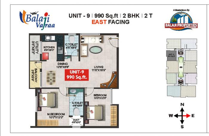 Balaji Vajraa, Bangalore - Floor Plan