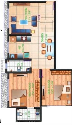 Zee Swastik, Mumbai - Floor Plan