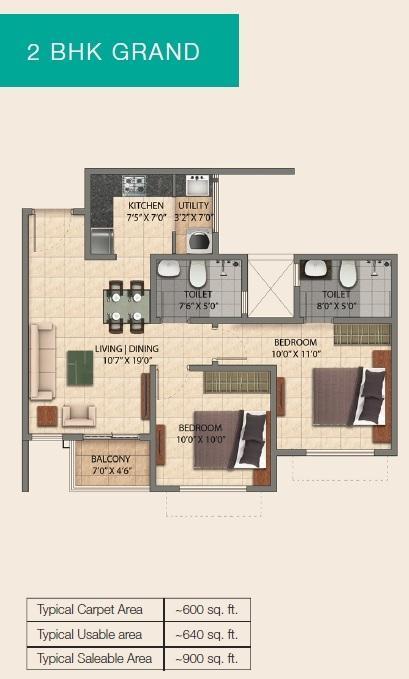 Provident Park Square Phase I, Bangalore - Floor Plan