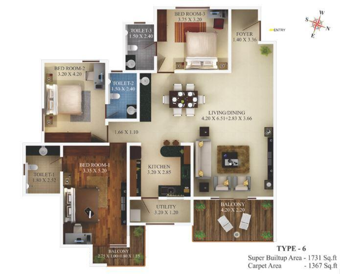Aratt Requizza, Bangalore - Floor Plan