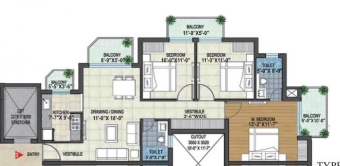 Rishita Manhattan, Lucknow - Floor Plan