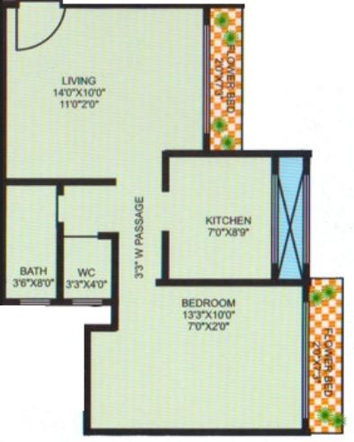 Annapurna North Avenue, Mumbai - Floor Plan