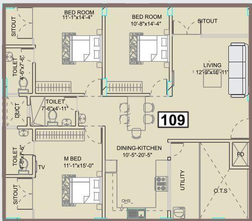 VMAKS Heights, Bangalore - Floor Plan