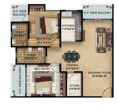 Sanjar Gold, Lucknow - Floor Plan