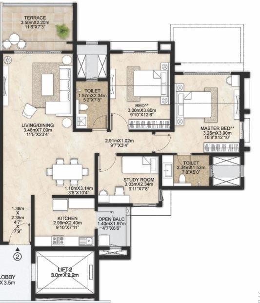 Mahindra Antheia, Pune - Floor Plan