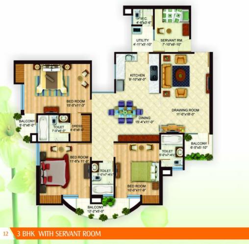 Arsha Sumangalam, Lucknow - Floor Plan