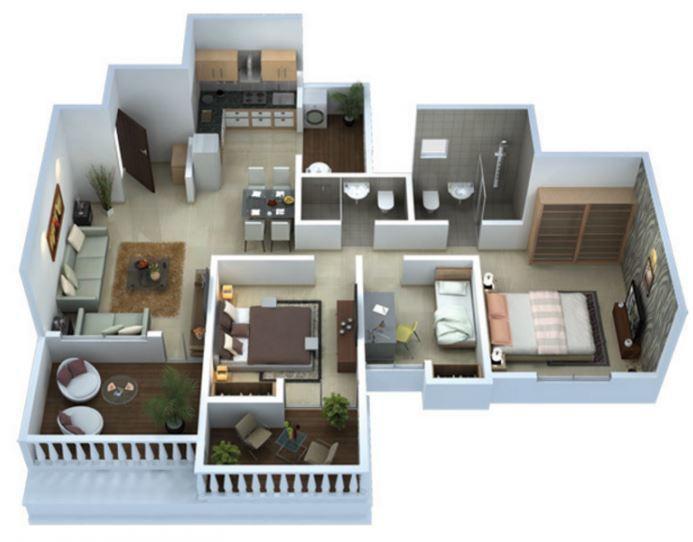 Venkatesh Bliss, Pune - Floor Plan