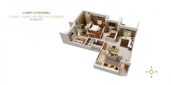 Sangam The Luxor, Mumbai - Floor Plan