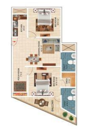 AKH Royal Apartment, Noida - Floor Plan