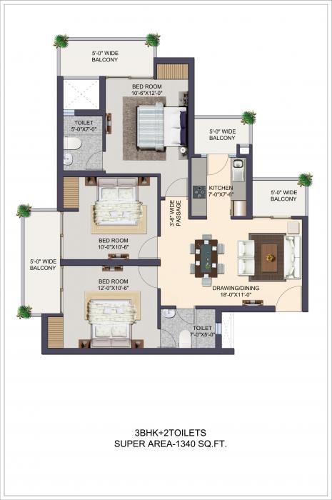 Apex The Kremlin, Ghaziabad - Floor Plan