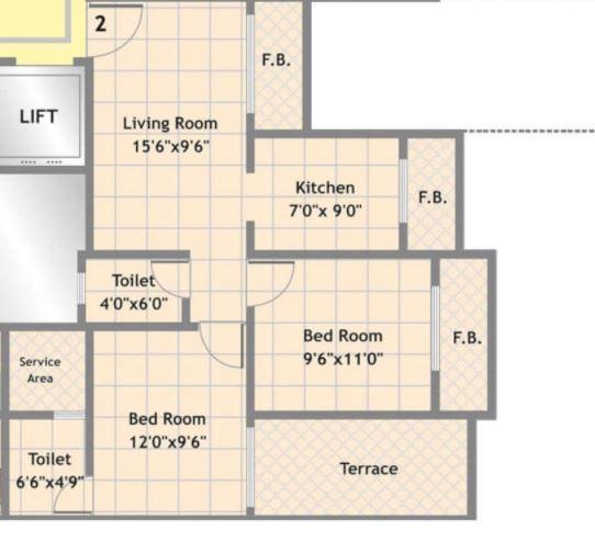 Mohan Suburbia Phase I Oxford, Mumbai - Floor Plan