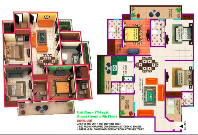 Himalaya Tanishq, Ghaziabad - Floor Plan