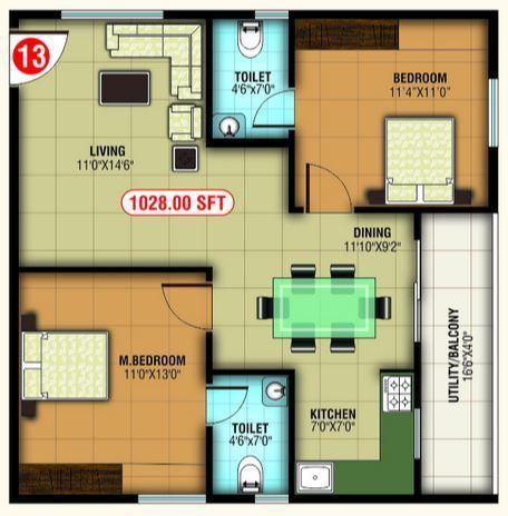 Abhee Prince, Bangalore - Floor Plan