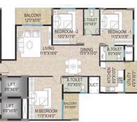 BM Pristine, Bangalore - Floor Plan