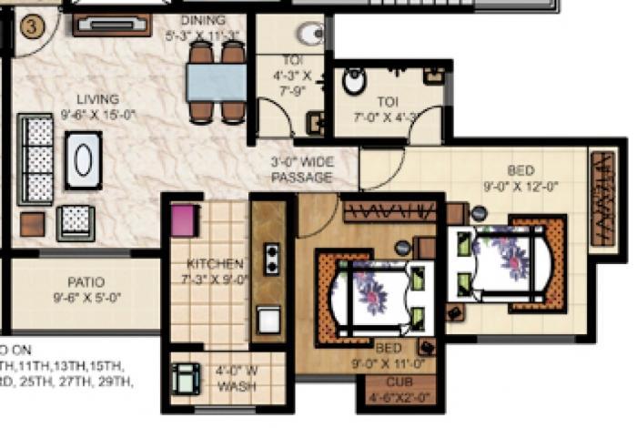 Puranik Rumah Bali Phase I, Thane - Floor Plan