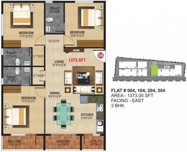 Nest Ashoka Nest, Bangalore - Floor Plan