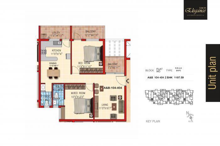 Sky Gold Elegance, Bangalore - Floor Plan