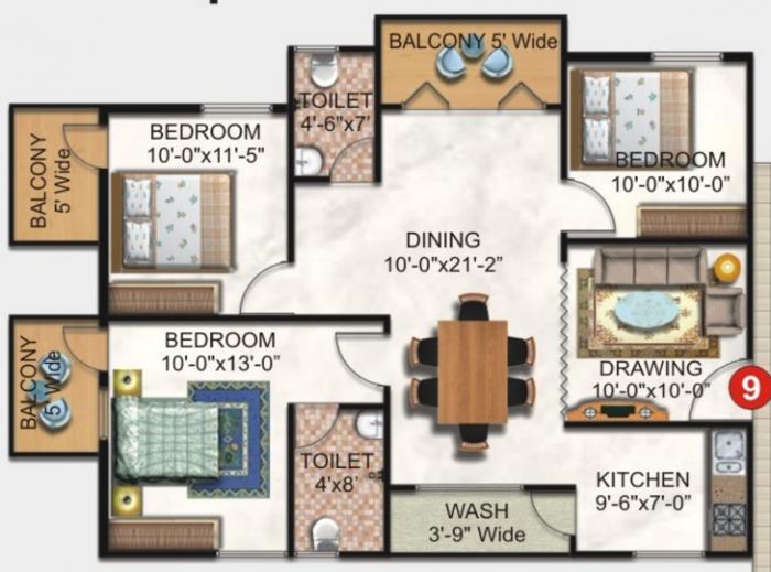 SK Brindavan, Bangalore - Floor Plan